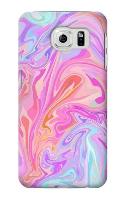 S3444 Digital Art Colorful Liquid Case For Samsung Galaxy S6
