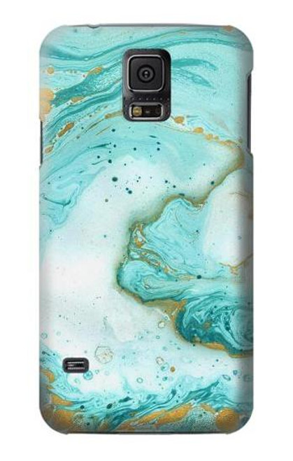 S3399 Green Marble Graphic Print Case For Samsung Galaxy S5