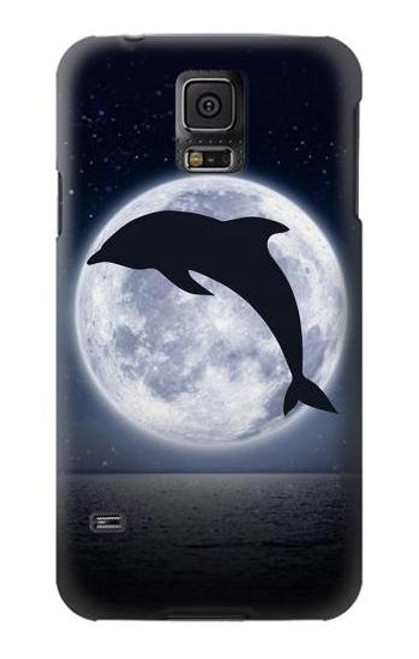 S3510 Dolphin Moon Night Case For Samsung Galaxy S5 mini