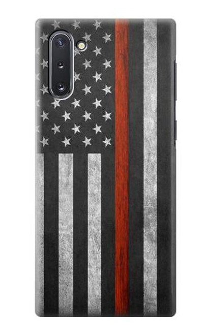 S3472 Firefighter Thin Red Line Flag Case For Samsung Galaxy Note 10