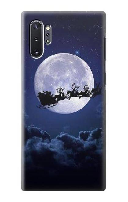 S3508 Xmas Santa Moon Case For Samsung Galaxy Note 10 Plus
