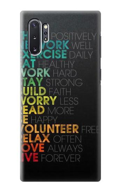 S3523 Think Positive Words Quotes Case For Samsung Galaxy Note 10 Plus
