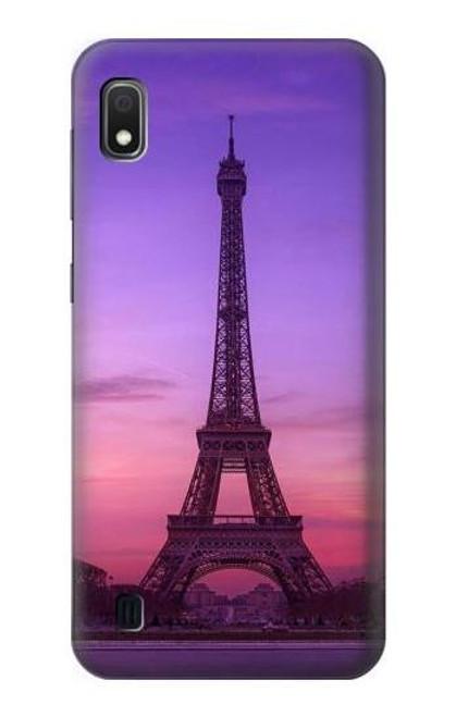 S3447 Eiffel Paris Sunset Case For Samsung Galaxy A10