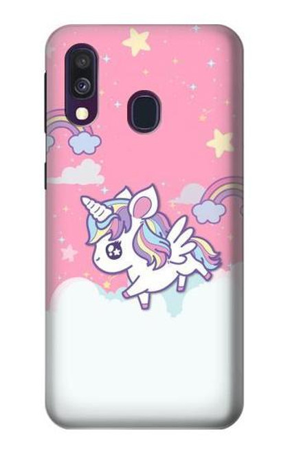 S3518 Unicorn Cartoon Case For Samsung Galaxy A40