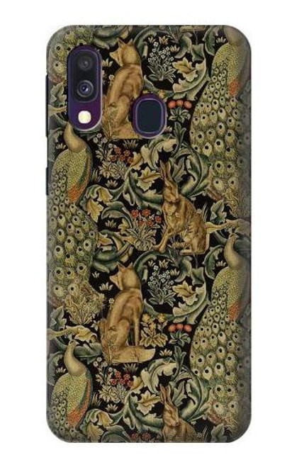 S3661 William Morris Forest Velvet Case For Samsung Galaxy A40