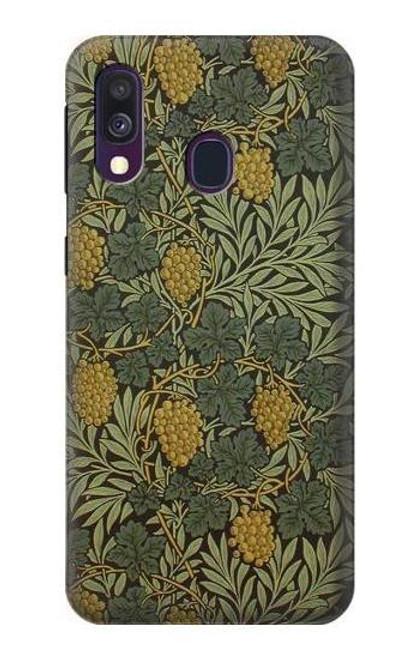 S3662 William Morris Vine Pattern Case For Samsung Galaxy A40