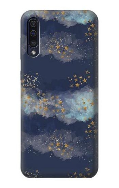 S3364 Gold Star Sky Case For Samsung Galaxy A50