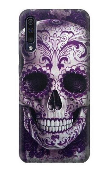 S3582 Purple Sugar Skull Case For Samsung Galaxy A50