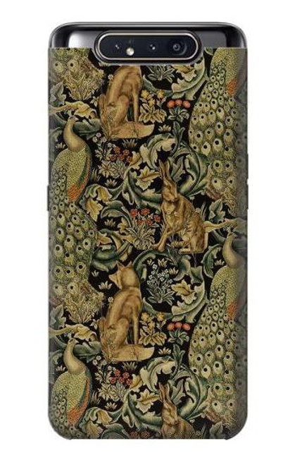 S3661 William Morris Forest Velvet Case For Samsung Galaxy A80