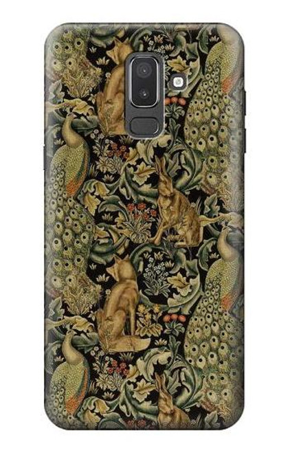 S3661 William Morris Forest Velvet Case For Samsung Galaxy J8 (2018)