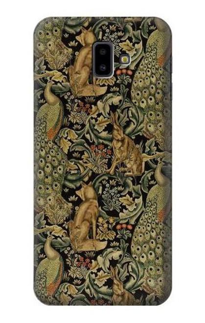 S3661 William Morris Forest Velvet Case For Samsung Galaxy J6+ (2018), J6 Plus (2018)