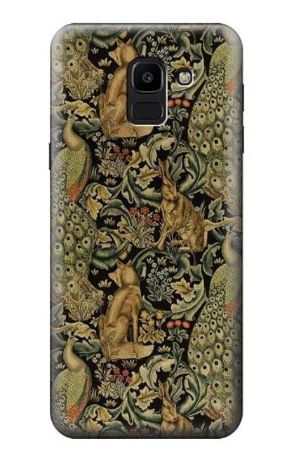 S3661 William Morris Forest Velvet Case For Samsung Galaxy J6 (2018)