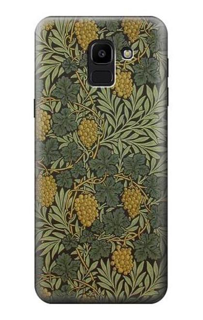 S3662 William Morris Vine Pattern Case For Samsung Galaxy J6 (2018)