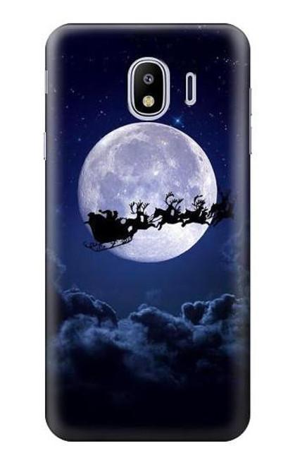 S3508 Xmas Santa Moon Case For Samsung Galaxy J4 (2018)