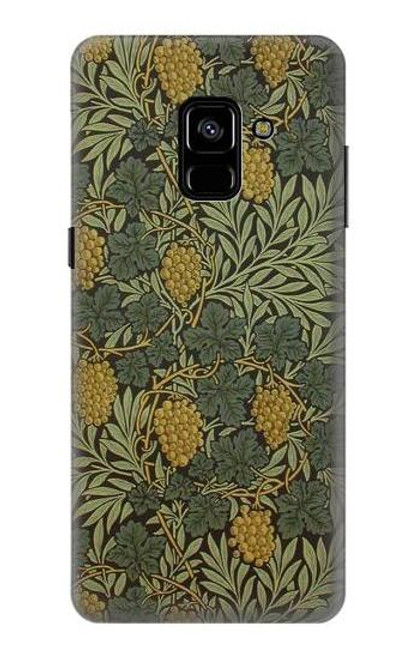S3662 William Morris Vine Pattern Case For Samsung Galaxy A8 Plus (2018)