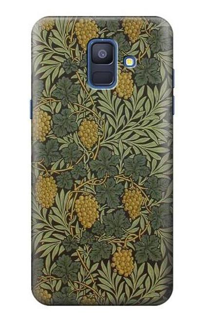 S3662 William Morris Vine Pattern Case For Samsung Galaxy A6 (2018)