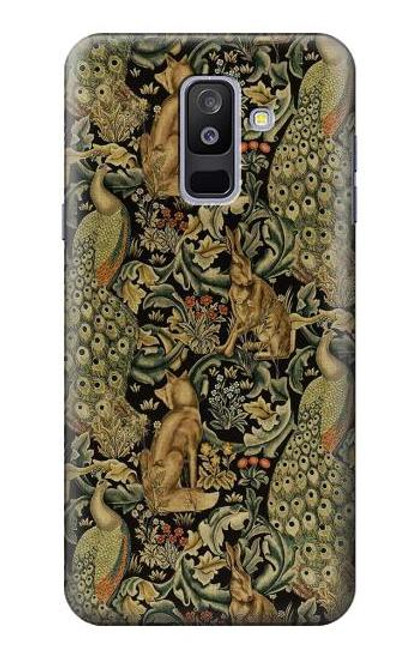 S3661 William Morris Forest Velvet Case For Samsung Galaxy A6+ (2018), J8 Plus 2018, A6 Plus 2018