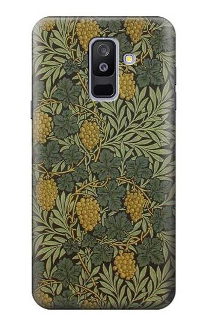 S3662 William Morris Vine Pattern Case For Samsung Galaxy A6+ (2018), J8 Plus 2018, A6 Plus 2018