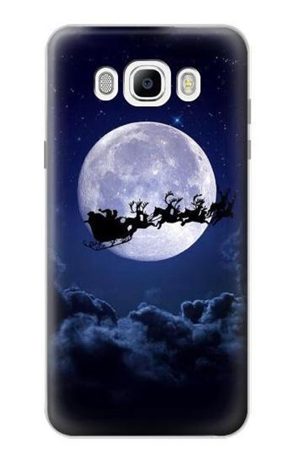 S3508 Xmas Santa Moon Case For Samsung Galaxy J7 (2016)