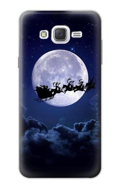 S3508 Xmas Santa Moon Case For Samsung Galaxy J7