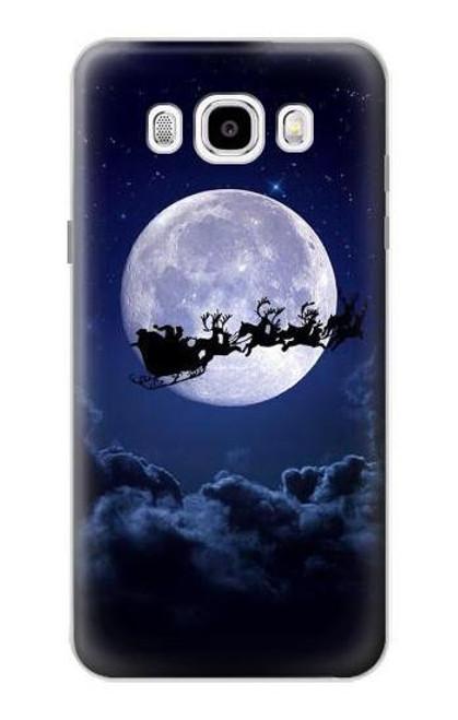 S3508 Xmas Santa Moon Case For Samsung Galaxy J5 (2016)