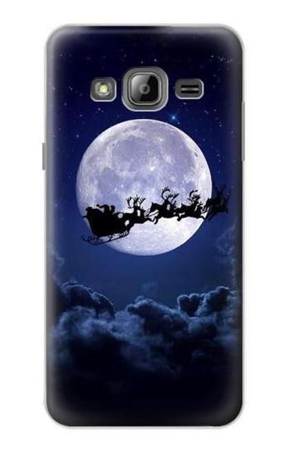 S3508 Xmas Santa Moon Case For Samsung Galaxy J3 (2016)