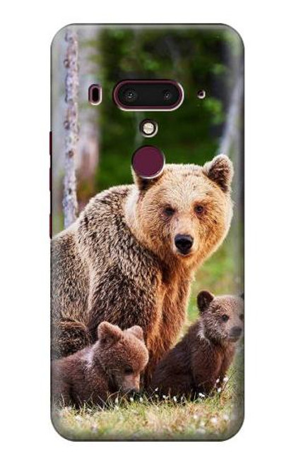S3558 Bear Family Case For HTC U12+, HTC U12 Plus