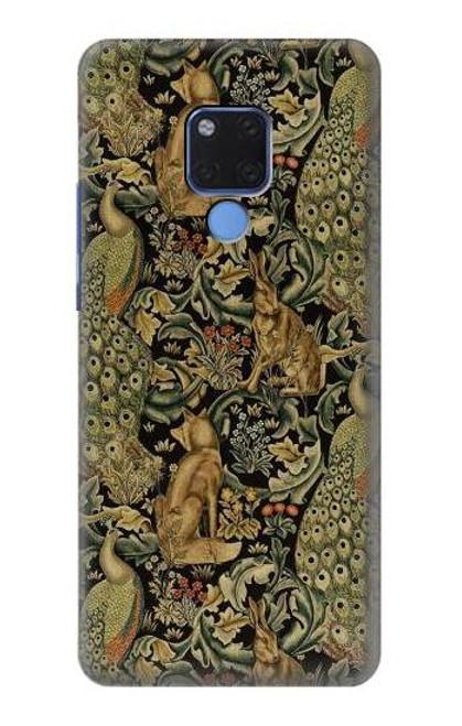 S3661 William Morris Forest Velvet Case For Huawei Mate 20 X