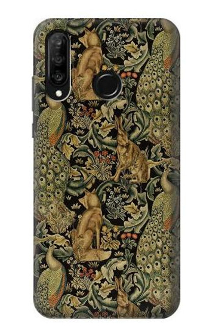 S3661 William Morris Forest Velvet Case For Huawei P30 lite