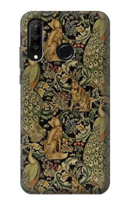 S3661 William Morris Forest Velvet Case For Huawei P30 lite