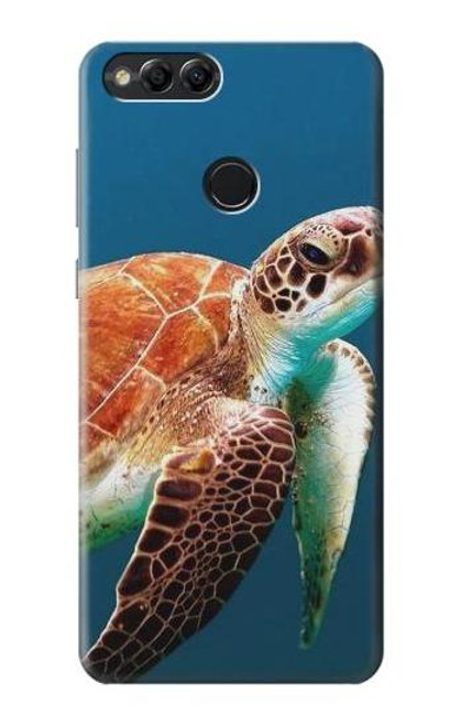 S3497 Green Sea Turtle Case For Huawei Honor 7x, Huawei Mate SE