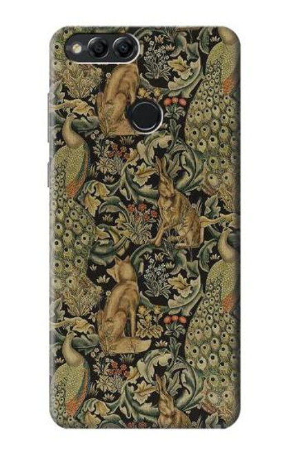 S3661 William Morris Forest Velvet Case For Huawei Honor 7x, Huawei Mate SE