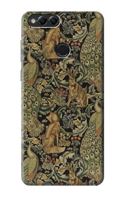 S3661 William Morris Forest Velvet Case For Huawei Honor 7x, Huawei Mate SE