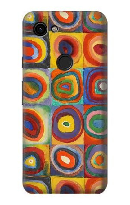 S3409 Squares Concentric Circles Case For Google Pixel 3a