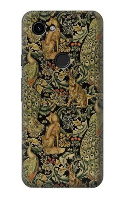 S3661 William Morris Forest Velvet Case For Google Pixel 3a