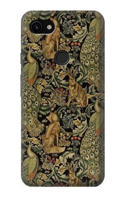S3661 William Morris Forest Velvet Case For Google Pixel 3a XL