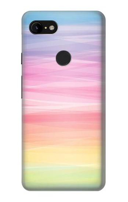 S3507 Colorful Rainbow Pastel Case For Google Pixel 3 XL
