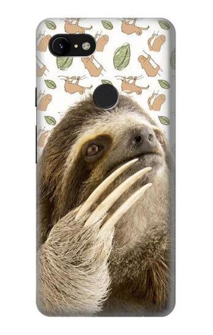 S3559 Sloth Pattern Case For Google Pixel 3 XL