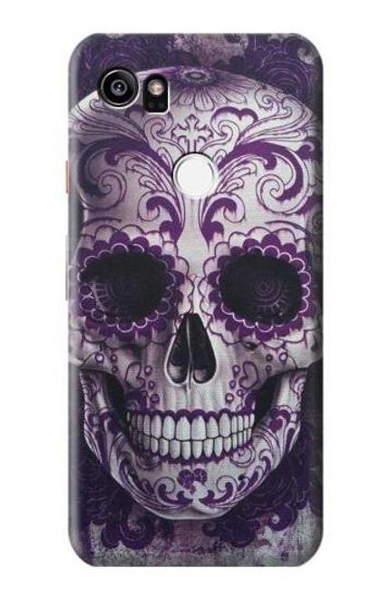 S3582 Purple Sugar Skull Case For Google Pixel 2 XL