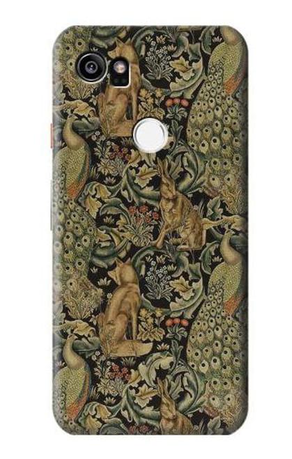 S3661 William Morris Forest Velvet Case For Google Pixel 2 XL