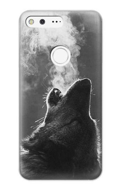 S3505 Wolf Howling Case For Google Pixel XL