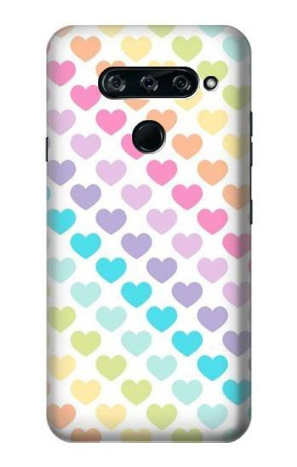 S3499 Colorful Heart Pattern Case For LG V40, LG V40 ThinQ