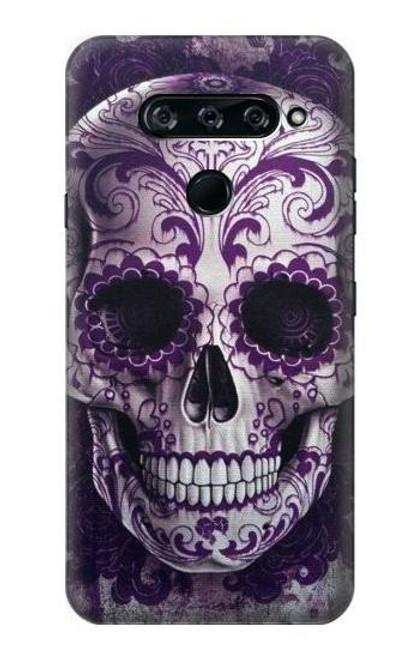 S3582 Purple Sugar Skull Case For LG V40, LG V40 ThinQ
