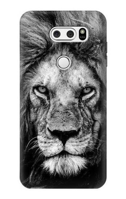 S3372 Lion Face Case For LG V30, LG V30 Plus, LG V30S ThinQ, LG V35, LG V35 ThinQ