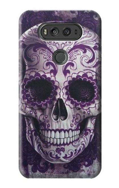 S3582 Purple Sugar Skull Case For LG V20