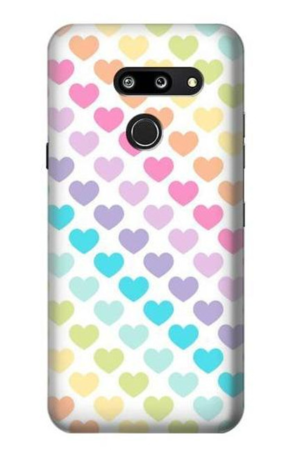S3499 Colorful Heart Pattern Case For LG G8 ThinQ