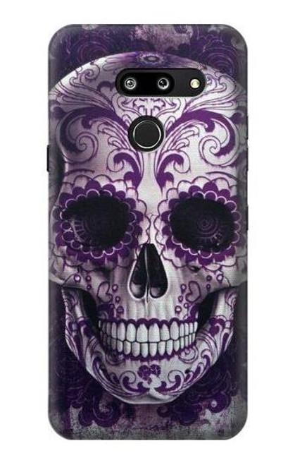 S3582 Purple Sugar Skull Case For LG G8 ThinQ