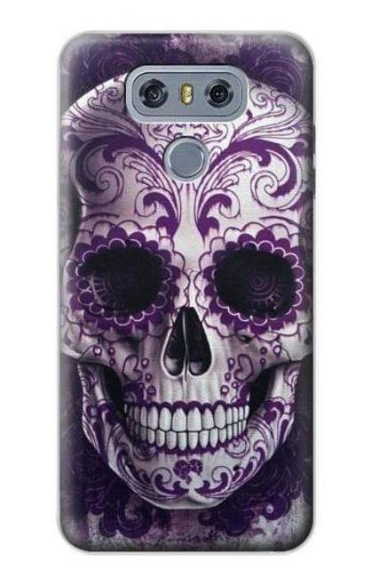 S3582 Purple Sugar Skull Case For LG G6