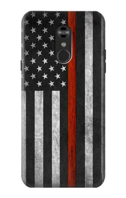 S3472 Firefighter Thin Red Line Flag Case For LG Q Stylo 4, LG Q Stylus