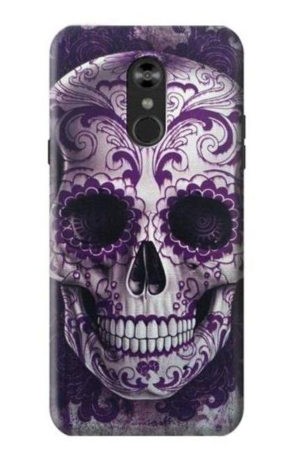 S3582 Purple Sugar Skull Case For LG Q Stylo 4, LG Q Stylus